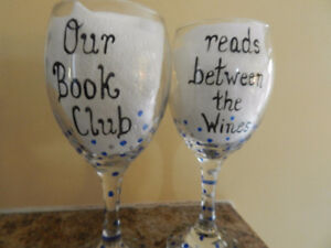 Wine glasses for book clubs and splurge clubs