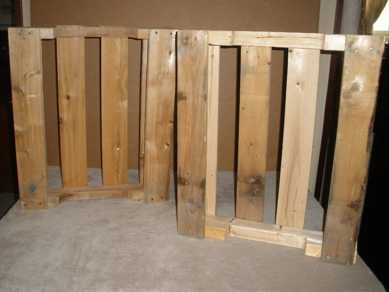 5 Assorted Wooden Pallets - Different Shapes and Sizes ...