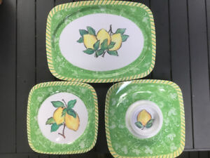Bowerings Melamine Dish Set For Sale for Outdoor Entertaining