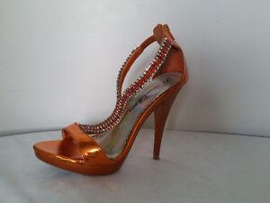 Size / Grandeur 6.5 • Sandales à talon haut • Orange • ou 40$