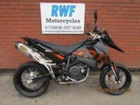 KTM 690 SM SUPERMOTO, 2008, ONLY 15,283 MILES FSH, FULL MOT AKRAPOVIC EXHAUSTS
