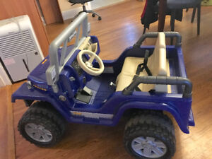 Power Wheels Jeep Ride-On: bigger version w/2 seats, 2 speeds