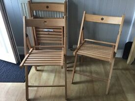 4 Ikea folding chairs