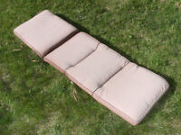 Outdoor Chaise / Lounge Cushion - Brown, Excellent Condition!