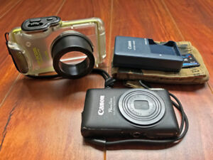 Canon Elph 300 HS with Waterproof Housing and 4GB Memory Card