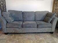 Sage green microsuede couch