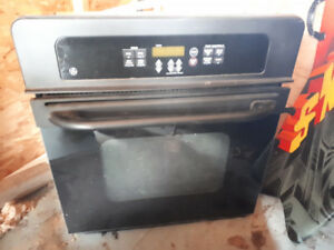 Black GE Wall Oven