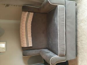 Double Wingback Rocking Chair