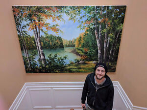 HUGE Original Oil Painting on Canvas by Maritime artist Sid Dobs