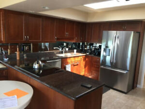Beautiful kitchen cabinetry and granite countertop