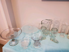 Assorted glassware and porcelain