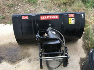 Craftsmen 42 dual stage snow blower garden tractor attachment