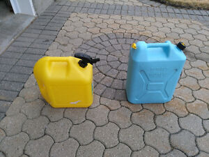 5 Gallon Jerry Cans: Potable water; Diesel