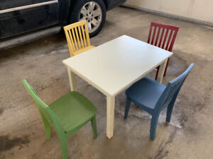 Kids play table and chairs - Pottery Barn