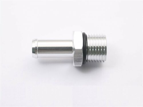Metric M16 P1.5 to 14mm Barb Aluminum Straight Fuel Fittings Adaptor with O Ring