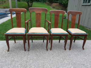 Four Antique Oak Chairs *Delivery Available*