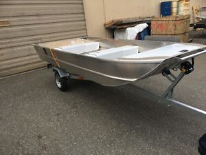 New 12' all welded Spratley boat and galvanized trailer