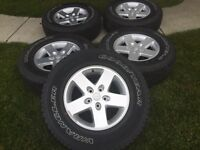 17' JEEP WRANGLER SET OF FIVE BRAND NEW $1100 FIRM