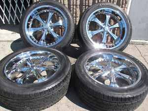 """22"""" VCT Scarface Crome Used Wheels For Yukon, Escalade 6x139.7"""