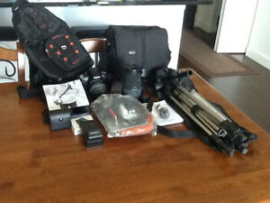 Sony Digital Single Lens Camera with Lots of Extras