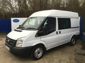 2012 62 Ford Transit 2.2TDCi (125PS) (EU5) 280M Med Roof Double Crew Cab Van