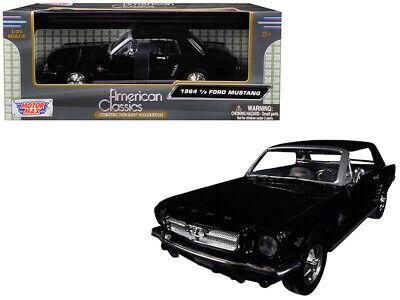 1964 1/2 Ford Mustang Black 1:24 Scale Diecast Model Car - Motormax 73273BK*