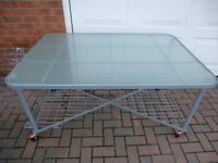 GLASS TOP TABLE/DESK  *******CLOSING HURRY**************