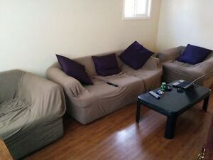 COUCH & CHAIRS SET