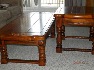 Coffee table and 2 end tables London Ontario image 3
