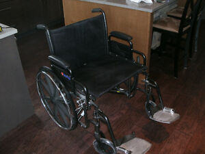 "Large 24"" Heavy Duty Wheelchair - NEW"