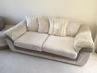 DFS Destiny 3 Seater Sofa & large swivel Chair with half moon footstool