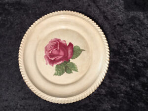 Teal Rose by HARKER - 10 1/4 inch dinner plate