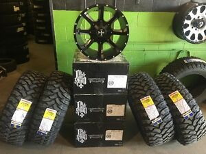 "Ram 2500/3500 or Ford 250/350 20""Cali Offroad Rim & Tire Package"