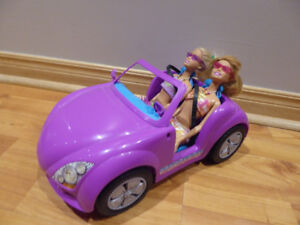 Barbie Dolls in Convertible