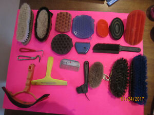 SELECTION of Horse Tack, GROOMING TOOLS & Salt Lick Holders