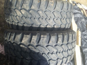 Two pro comp mud terrian Lt tires 10 ply