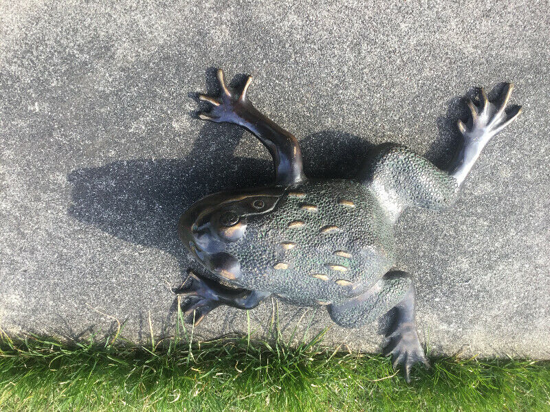 Huge Frog Solid Bronze Fountain Or Pond Display