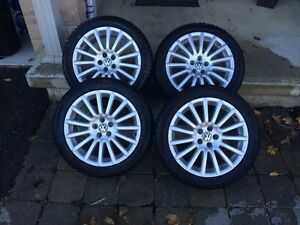 OEM VW wheels with tires