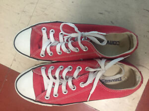 Converse Chuck Taylor All Star Low Top Sneaker, Red color