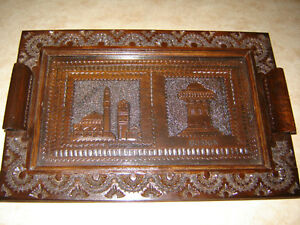 Hand-carved BOSNIA Serving Tray