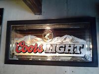 Coors Light Mirror Beer Sign