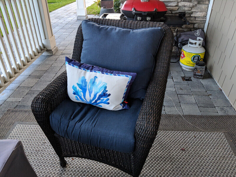 Wicker Look Patio Set With Love Seat And Chairs Delivery
