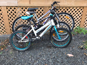 3 bikes selling for parts