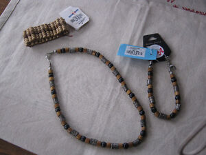 Wooden and beaded necklace and braclets bought in Phillipines
