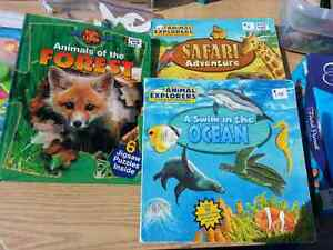 Set of three puzzle books