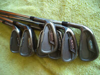 used golf clubs for sale: Adams CB2 Black forged irons LH