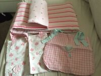 Mother care Girls cot bumper and bedding set