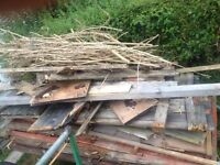 Free fire wood must go together , trailer frame can be included for price