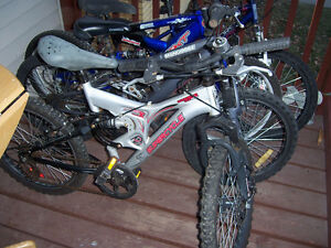 LIKE NEW DUAL SUSPENSION BIKES  18 AND 20 IN