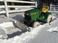 reduced :john Deere lx 176 law tractor with snow blade